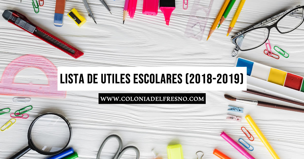 lista de utiles, escolares, autorizada, sep, 2018, 2019