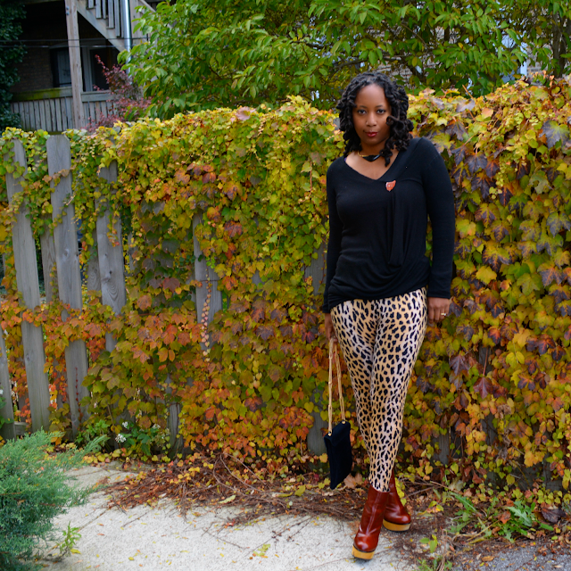 sahm style in cheetah leggings