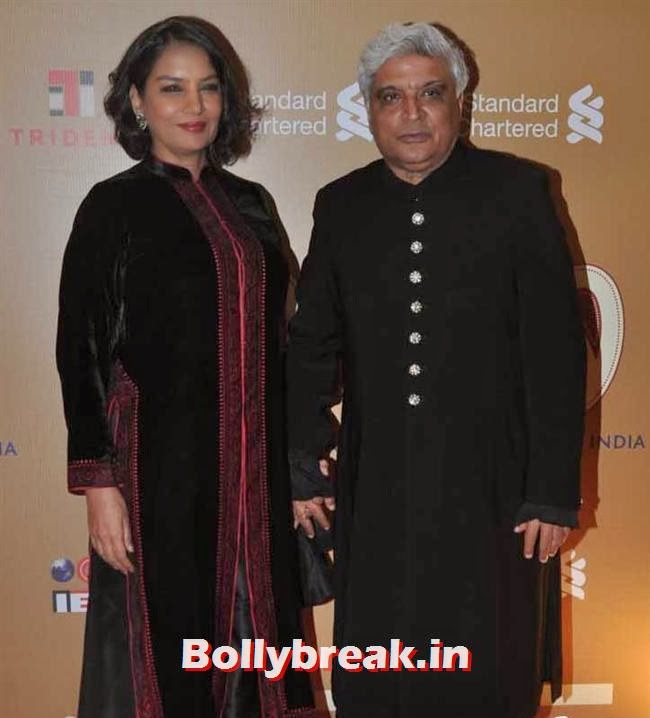 Shabana Azmi and Javed Akhtar, The Idea of India Auction Pics