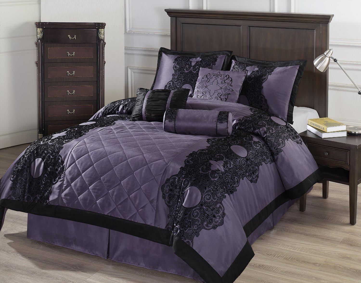 Total Fab: Deep Dark Purple Comforters & Bedding Sets