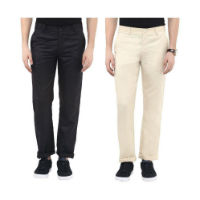 Urbano Fashion Slim Fit Flat Trousers Pack of 2 For Rs 469 Snapdeal