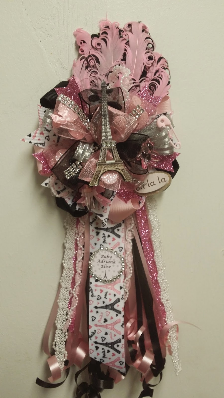 Adriana S Creations Girl Theme Baby Shower Corsages