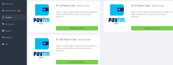 Paytm Coupon withdraw kar sakate hai.