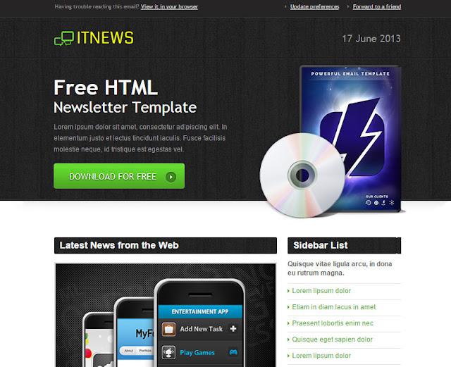 IT News Html Newsletter Template