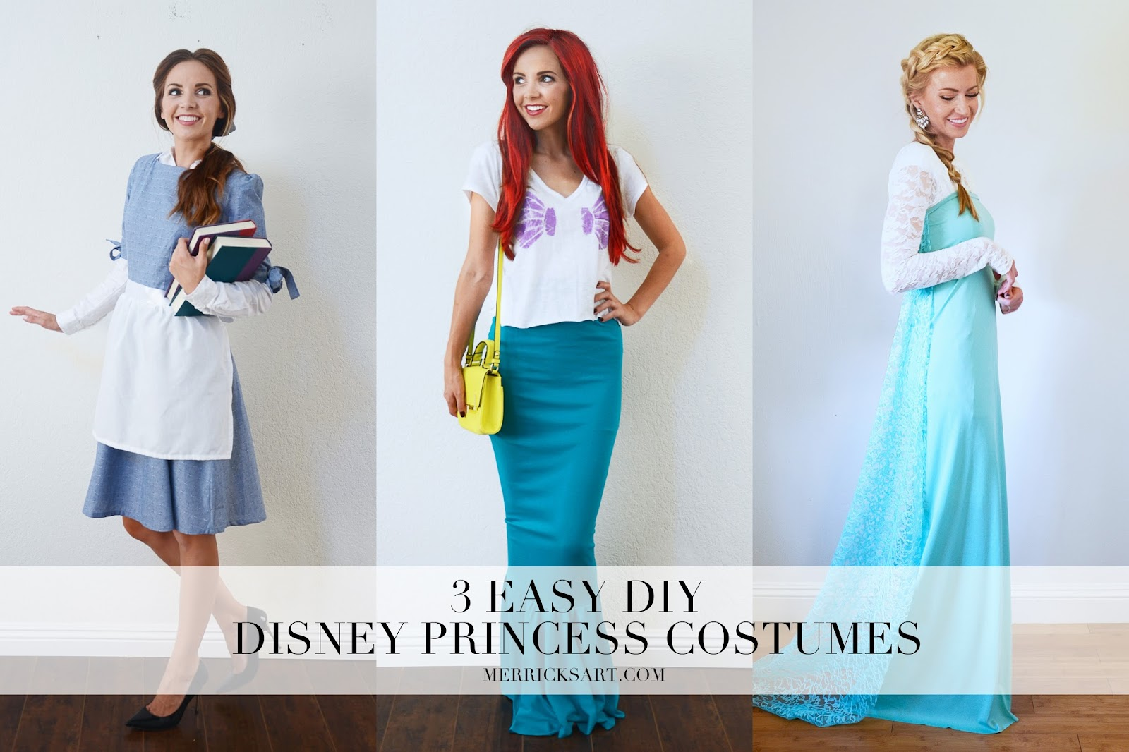 easy diy disney princess halloween costumes