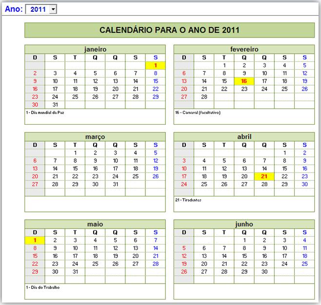 Calendario Su Excel.Calendario Com Feriados No Excel Excelmax Solucoes E Controles