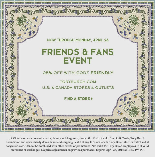8239bfee659de Tory Burch Friends and Family Sale