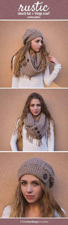 Gorro y bufanda de crochet
