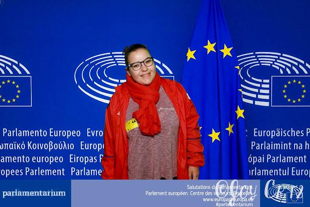 Portrait au parlementarium de Bruxelles
