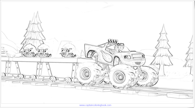 Monster Machines- Sheep Rescue coloring book
