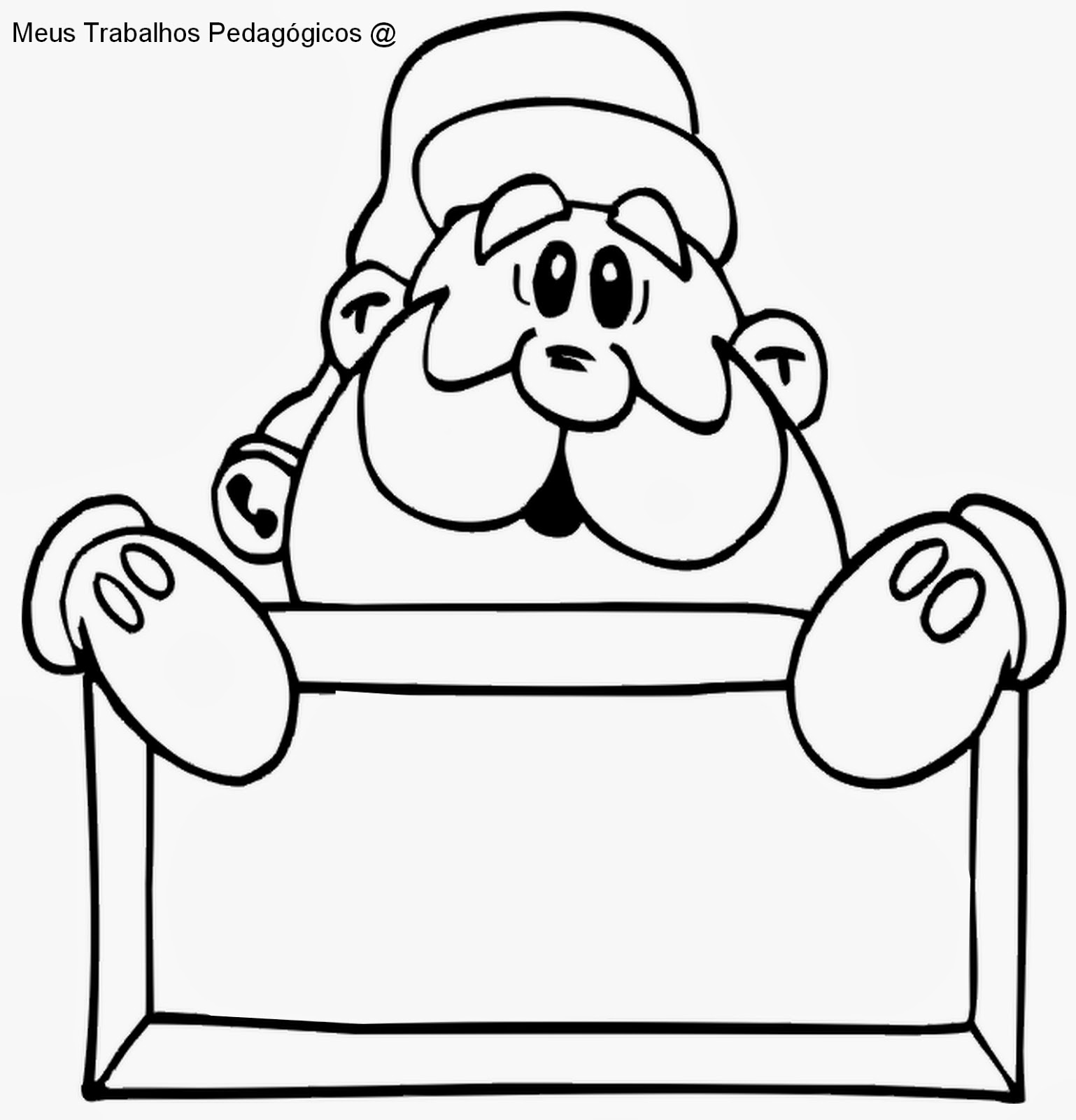 Meus Trabalhos Pedagogicos Papai Noel Para Colorir