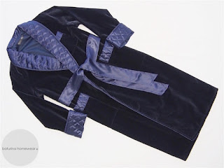 mens silk velvet luxury dressing gown long warm quilted collar