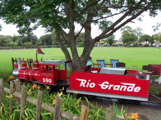 Miniature Railway at Salthouse Fields in Clevedon, North Somerset