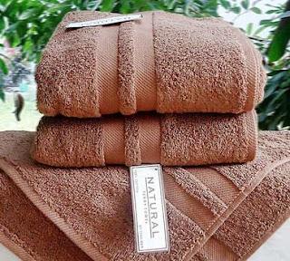 Handuk Merk Natural warna coklat muda