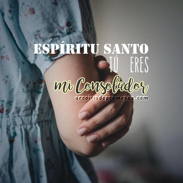 espíritu santo consolador mensajes cristianos con imágenes arcoiris de promesas