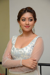 Anu Emmanuel in a Transparent White Choli Cream Ghagra Stunning Pics 093.JPG