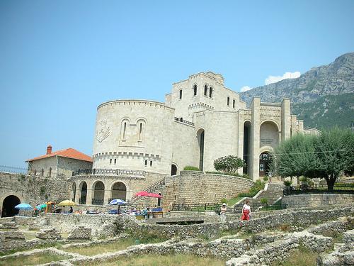 El Castillo de Kruja en Albania
