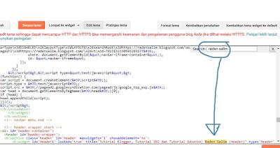 Cara Cepat Mencari Kode HTML di blogspot