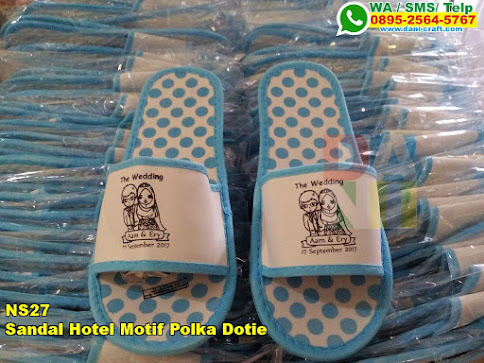 Toko Sandal Hotel Motif Polka Dotie
