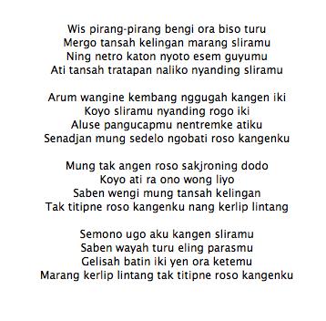 Lirik Lagu Eny Sagita Feat Atut Kangen