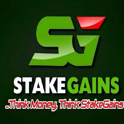 Stakegains Logo, website