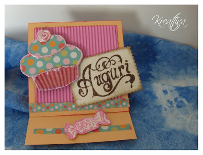 Cupcake bigliettino auguri per Party