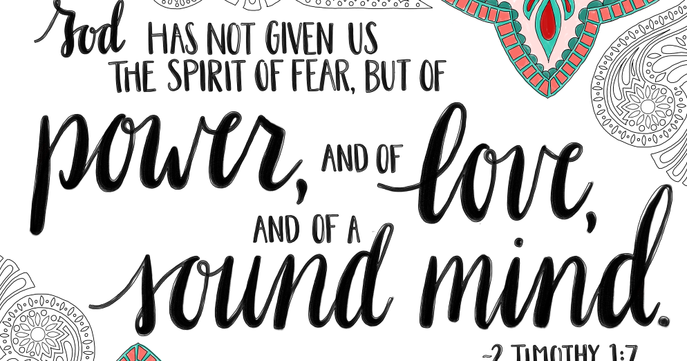 just what i {squeeze} in: God has not given us the spirit
