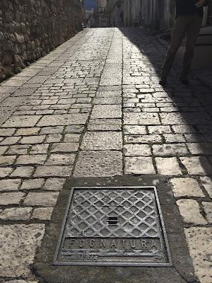 Sewer cover Chiaramonte Gulfi.