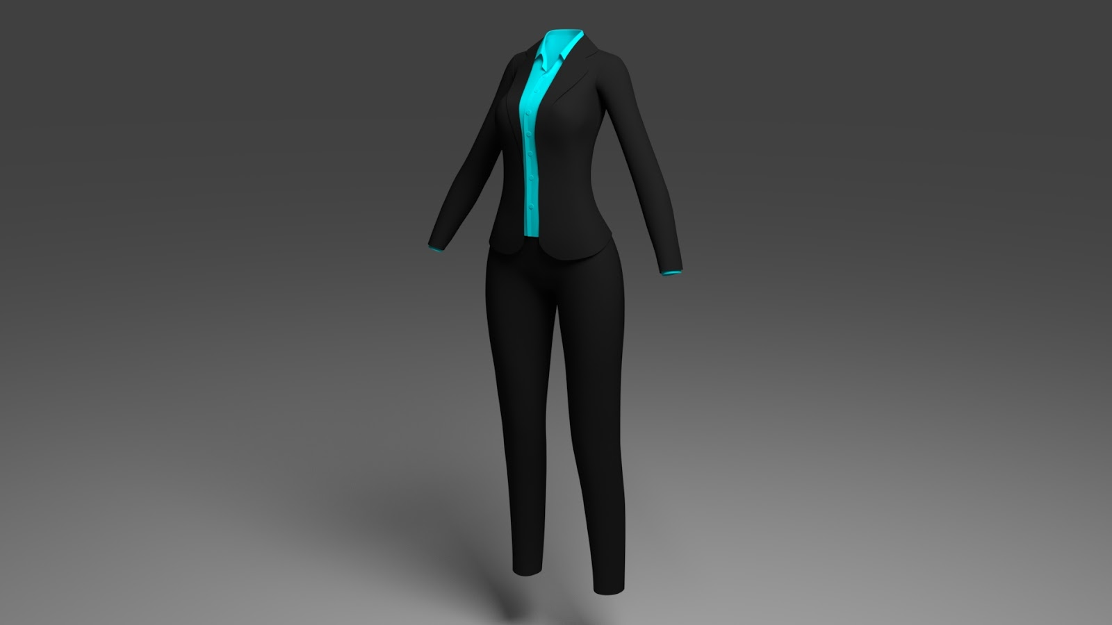 Free 3D Women Business Suits .blend file