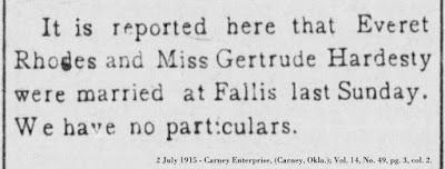 Image of 2 July 1915 Carney Enterprise, (Carney, Okla.); Vol. 14, No. 49, pg. 3, col. 2.