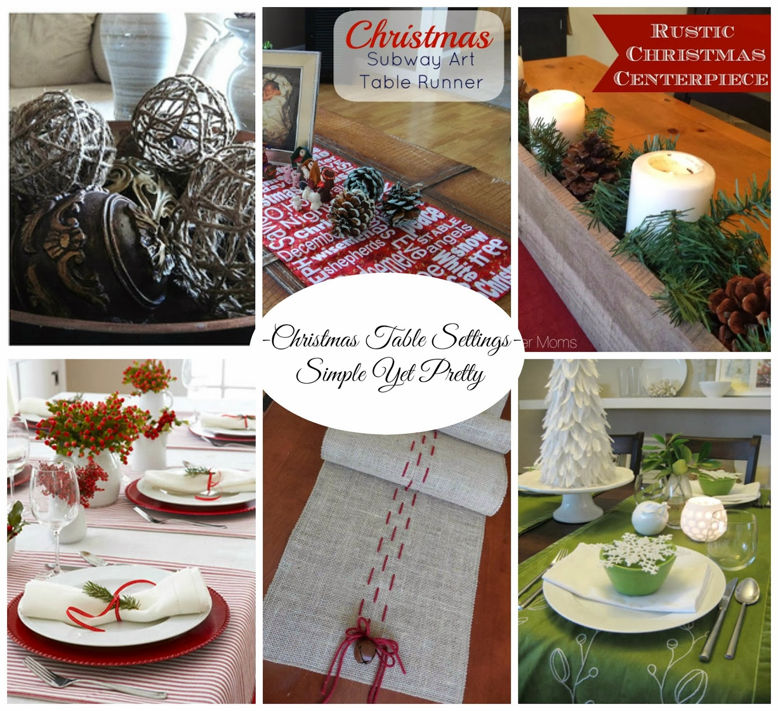 Renovating519 christmas table settings simple yet pretty - Simple christmas table settings ...