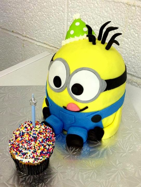 Minion Cupcake Cake Birthday