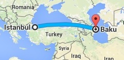İstanbul'dan Bakü'ye
