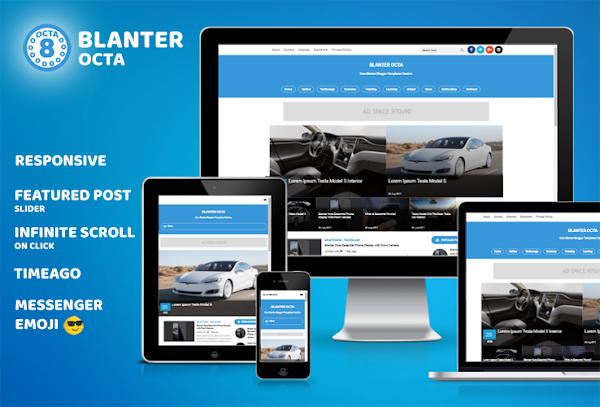 Blanter Octa Responsive Blogger Template with Messenger Emoji