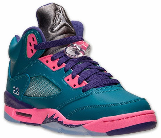 9b4812979b93 Girl s Air Jordan 5 Retro GS Tropical Teal White-Digital Pink-Court Purple  Release Reminder