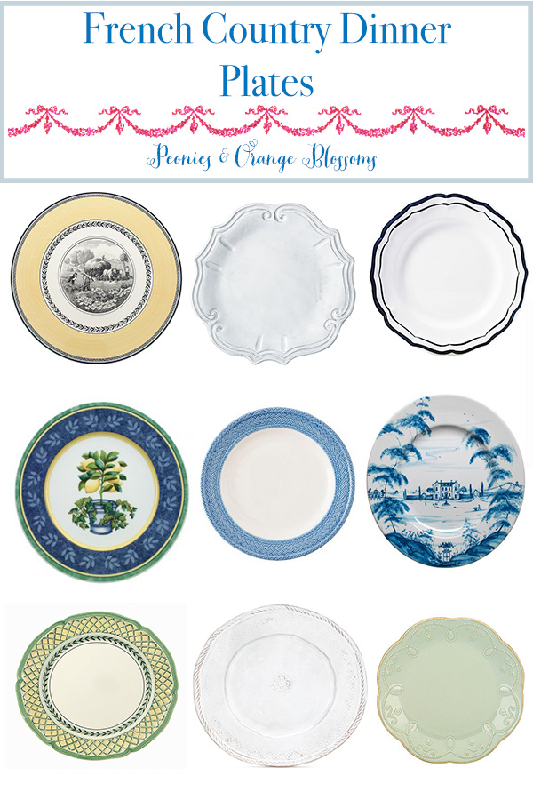 French Country Dinner Plates