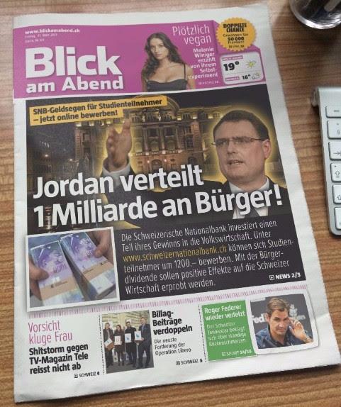 La BNS versera au moins un milliard de Francs aux Suisses