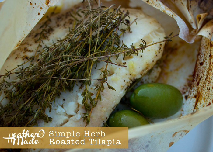 Simple Herb-Roasted Tilapia. simple summer supper. recipe.
