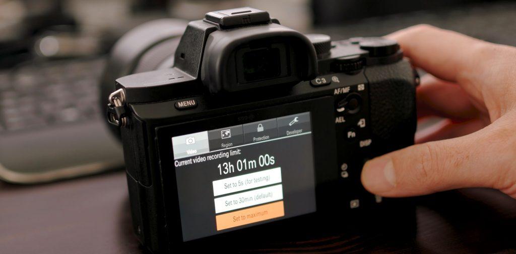 В Sony A7 хакнули ограничение на продолжительность видеозаписи