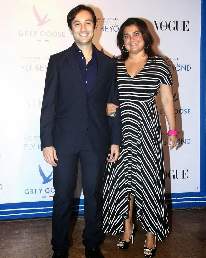 Aditya Hitkari, Divya Palat, Pics from Red Carpet of Grey Goose & Vogue's Fly Beyond Awards 2014