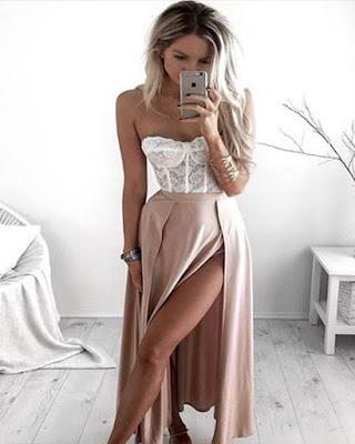outfit con corset de encaje tumblr juvenil casual