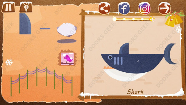 Chigiri: Paper Puzzle Christmas Pack Level 21 (Shark) Solution, Walkthrough, Cheats