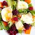 Míchaný salát s ostružinami a mozzarellou