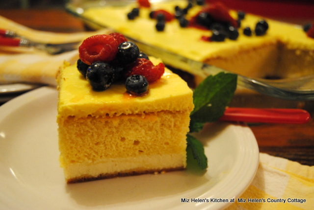 Italian Lemon Cream Cake at Miz Helen's Country Cottage