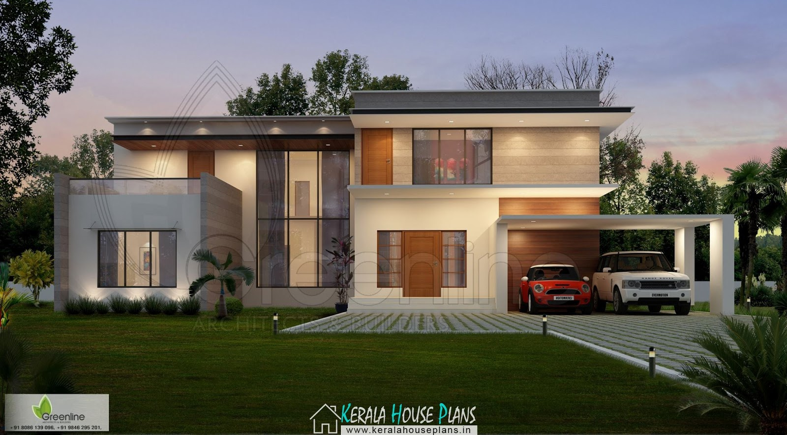 Modern ContemporaryHouse with 2 Car porch