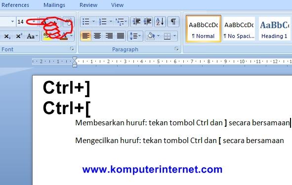 Cara Mudah Memperbesar dan Memperkecil Ukuran Huruf di Word dengan Tombol Shortcut atau Menggunakan Fungsi Tombol Ctrl+] untuk Membesarkan dan Ctrl+[ untuk Mengecilkan Ukuran Huruf