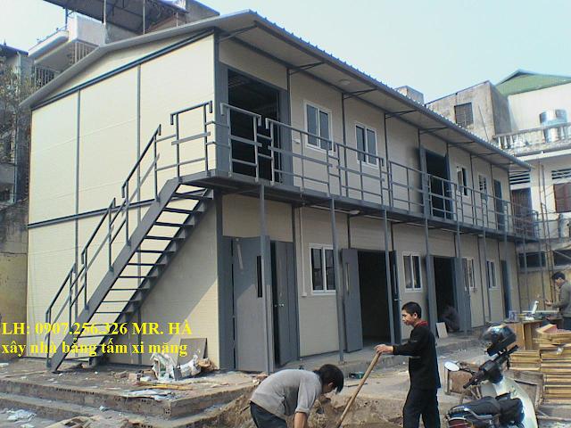 nhà lắp ghép bằng tấm xi măng cemboard