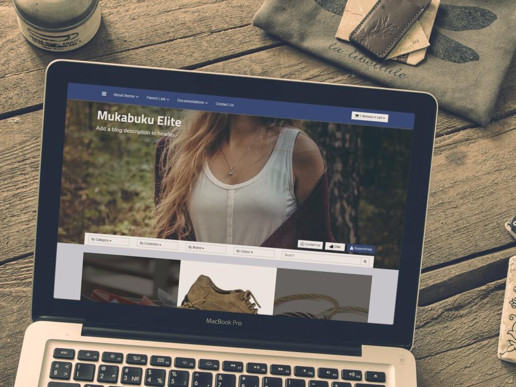 Responsive Blogger Shopping Cart Template Full Features Mukabuku