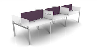 Collaborative Desk with Modesty Panels