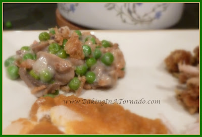 Festive Pea Casserole | www.BakingInATornado.com | #recipe #sidedish